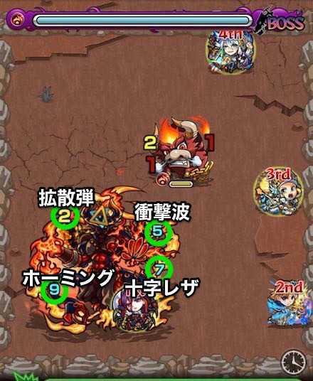 火の獣神竜を求めてボスステージ1攻略.jpg