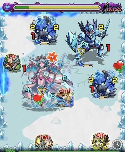 水の獣神竜を求めてボスステージ2攻略召喚後.jpg