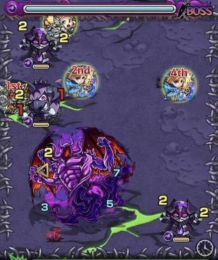 闇の獣神竜を求めてのボスステージ1召喚ご .jpg