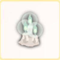 青い蝋燭x3の画像