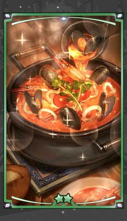 シーフードスープの解放後画像