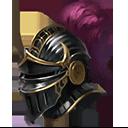 翼騎兵の黒兜