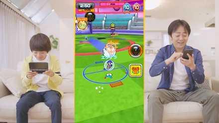 モバイルボール ゲーム画面