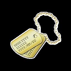 金のタグの画像