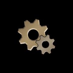 銅の歯車の画像