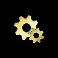 金の歯車の画像