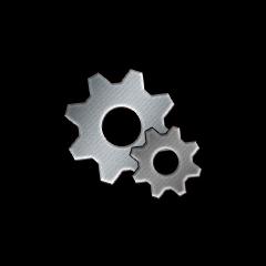 銀の歯車の画像