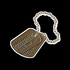 銅のタグの画像