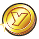 黄色コインのアイコン