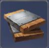 鉄張り板材