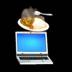 [クルルのノートパソコンの画像