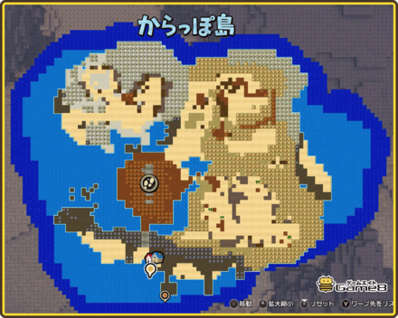 からっぽ島のマップ(地図)