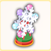 雪結晶の風車の画像