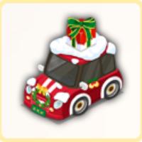 クリスマスカーの画像