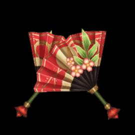 [新年祝い扇子の画像