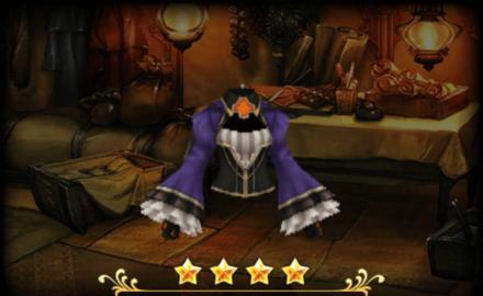 聖白詰のジャケット/コルセット:紫のレディース画像