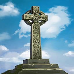 石製ケルト十字の画像