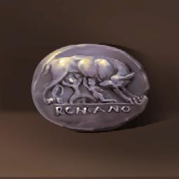 ローマの銀貨(雌狼を刻んだ貨幣)の画像
