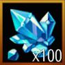 鋳造結晶×100