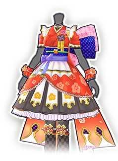 賀正の着物の画像