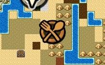 地図上レストランアイコン