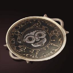 メドゥーサ白陶碗(滑稽なメドゥーサ)の画像