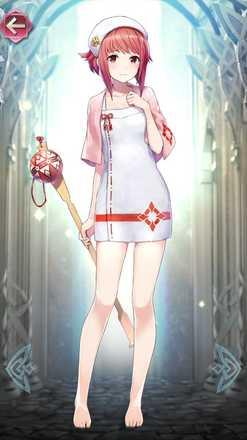 サクラ(温泉の巫女)の立ち絵
