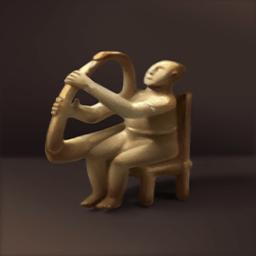 ハープ師の坐像(ハープ使いの彫刻)の画像