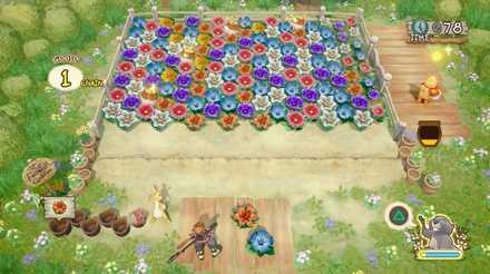 花畑・はちみつ収穫