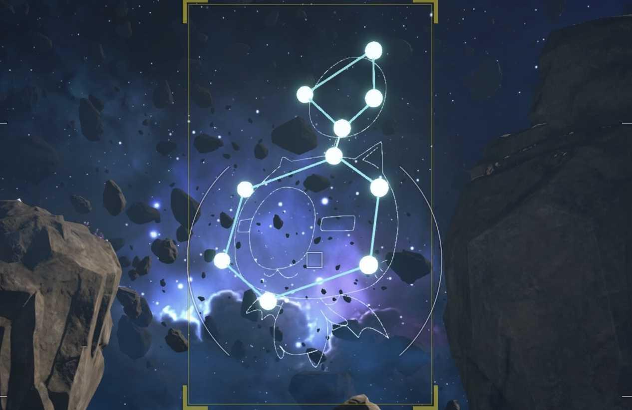 モーグリの星座の形