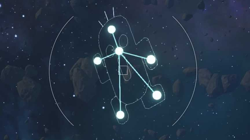 サボテンダーの星座の形