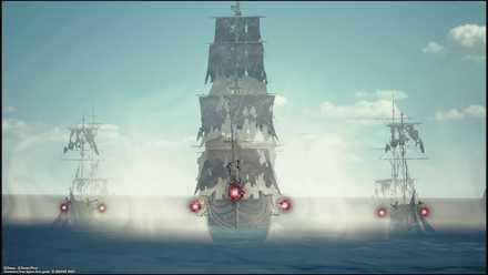 消える船のカットイン演出