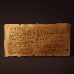 古代エジプトの文書の画像