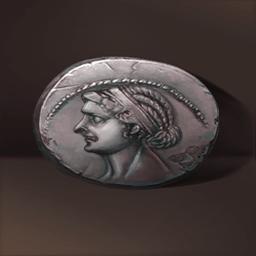 クレオパトラの硬貨(クレオパトラの面影)の画像