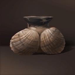 貝殻の形の瓶(貝殻がある盃)の画像