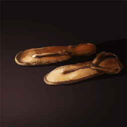 革のサンダル(カワイイ小さな靴)の画像