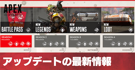 Apex Legendsのアップデート最新情報