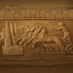 古代ローマの浮彫り(駆ける浮き彫り)