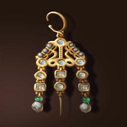 ビザンツ金のイヤリング(ビザンチン耳飾)の画像