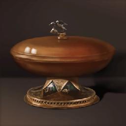 黄金の木製盃(尊き木製皿)の画像