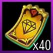 宝石券×40