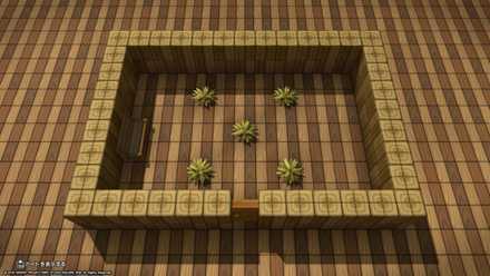 草のはえた部屋