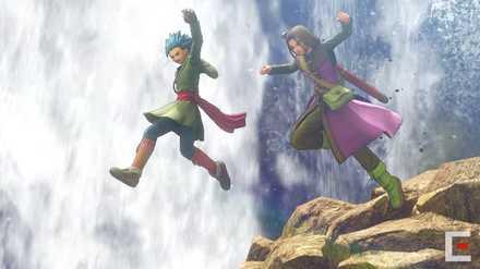 PS4版カミュと主人公崖飛び降り
