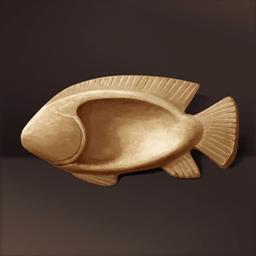 魚形貝殻状の容器(エジプト人の容器)の画像