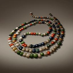 多色ガラスビーズ(彩り首飾り)の画像