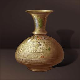 キリスト教徒の金瓶(中世紀の平凡生活)の画像