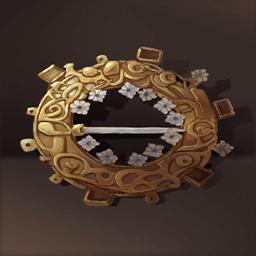 銀メッキのバックル(金外套のボタン)の画像