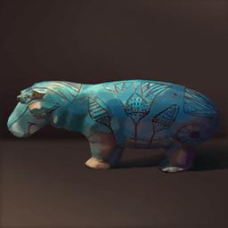 ブルーカバ陶器(青色のカバ)の画像