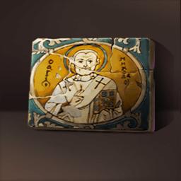 聖ニコラウス陶器(素朴な聖像)の画像