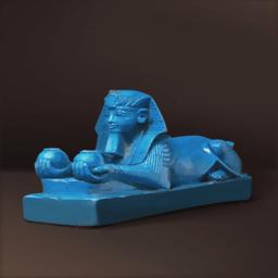 青磁のスフィンクス像(青色の国王彫刻)の画像